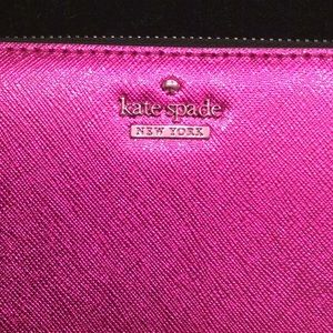 Kate Spade Fuchsia  Zippered Wallet